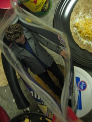 Whoops, fell in the cheese. Hate when that happens