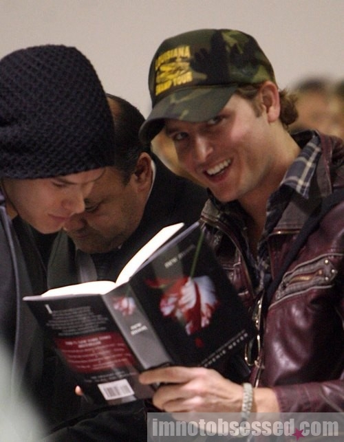 Kellan, will you ask that pap to sign my book?