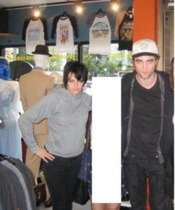 Rob and Kristen spotted shopping in VINTAGE store